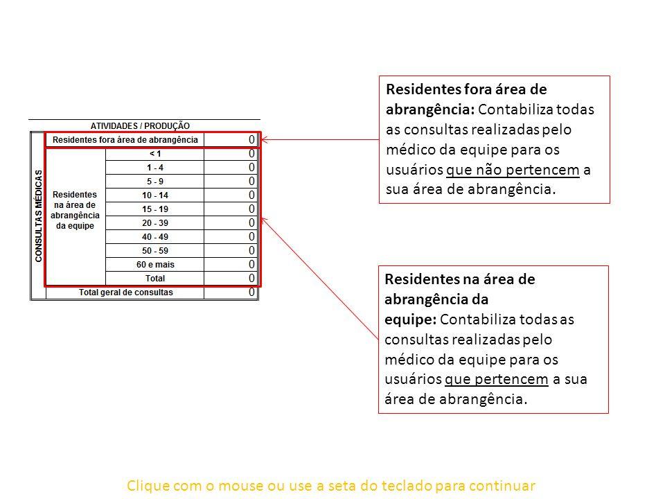 Clique com o mouse ou use a seta do teclado para continuar Relatório PMA2 Encaminhamentos