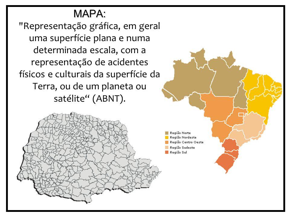 PROJEÇÕES CARTOGRÁFICAS Toda representação cartográfica apresenta distorção.