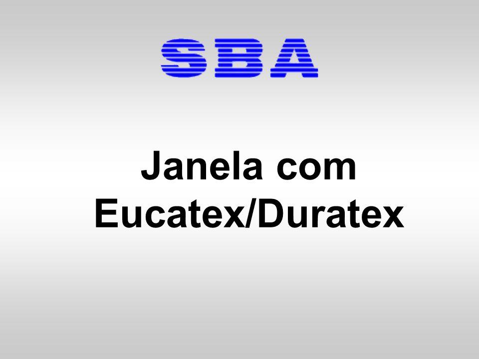 Janela com Eucatex/Duratex - Chumbada Corte as fitas de segurança