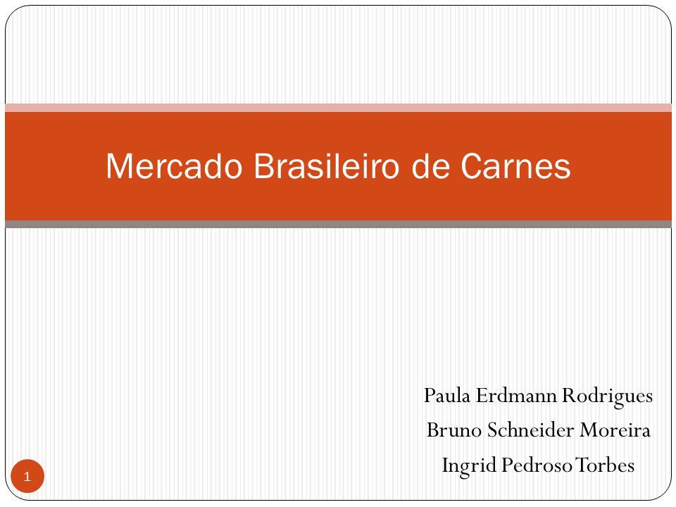 Paula Erdmann Rodrigues Bruno Schneider Moreira Ingrid Pedroso Torbes 1 Mercado Brasileiro de Carnes