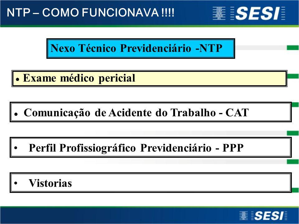 Nexo Técnico ou Nexo Técnico Previdenciário (NTP) – ( art. 337 do RPS) É quando há o reconhecimento pelo perito médico do INSS, do acidente, doença ou
