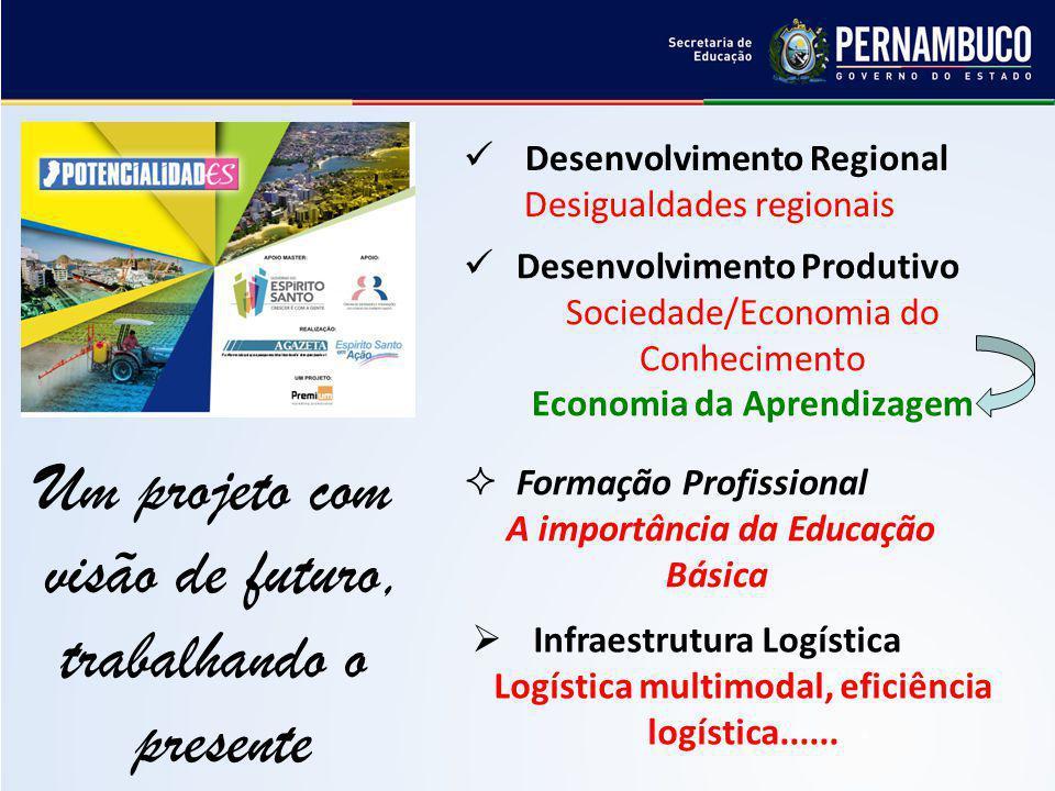 Infraestrutura Logística Logística multimodal, eficiência logística...... Um projeto com visão de futuro, trabalhando o presente Desenvolvimento Regio