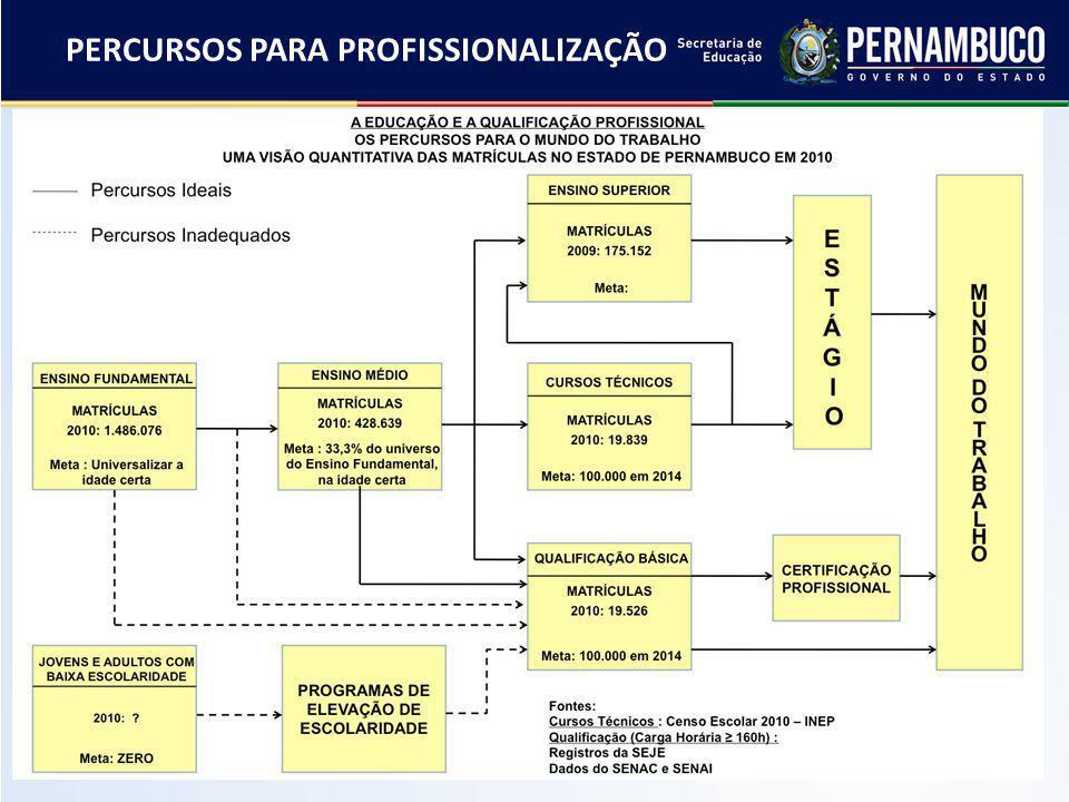 PERCURSOS PARA PROFISSIONALIZAÇÃO