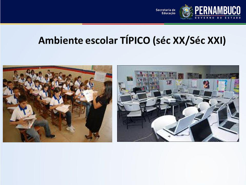 Ambiente escolar TÍPICO (séc XX/Séc XXI)