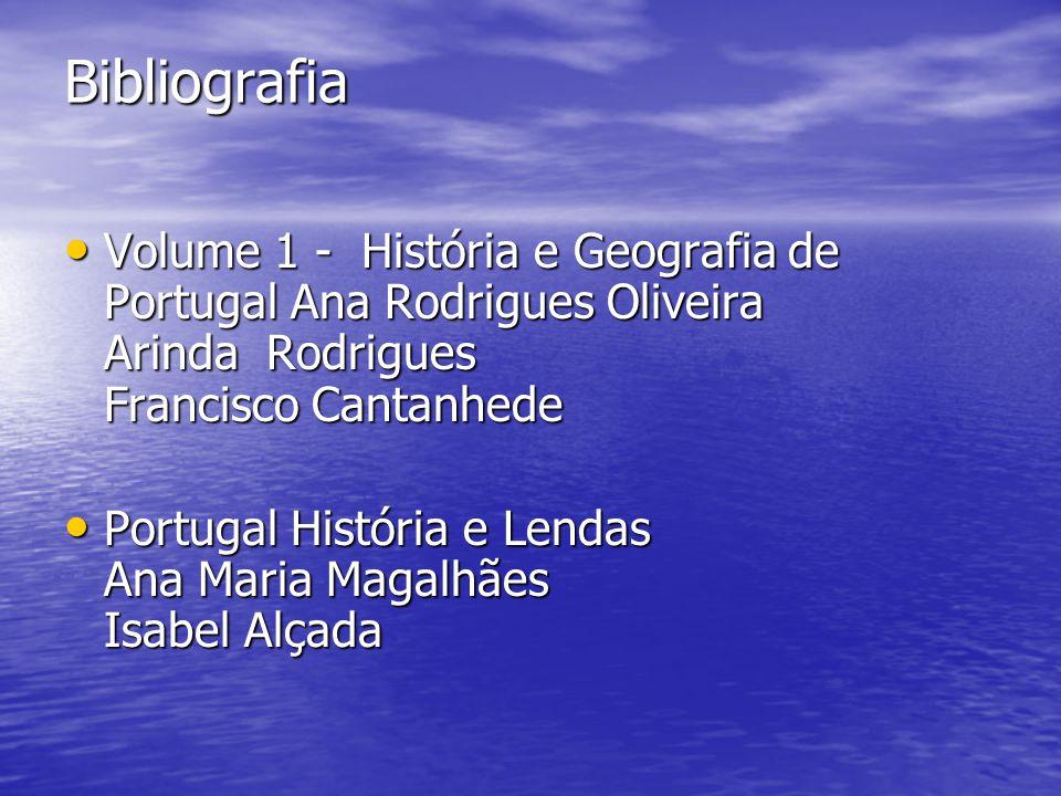 Bibliografia Volume 1 - História e Geografia de Portugal Ana Rodrigues Oliveira Arinda Rodrigues Francisco Cantanhede Volume 1 - História e Geografia