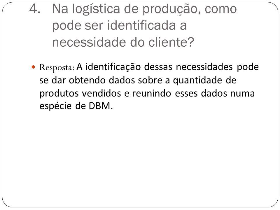 4.Na logística de produção, como pode ser identificada a necessidade do cliente.