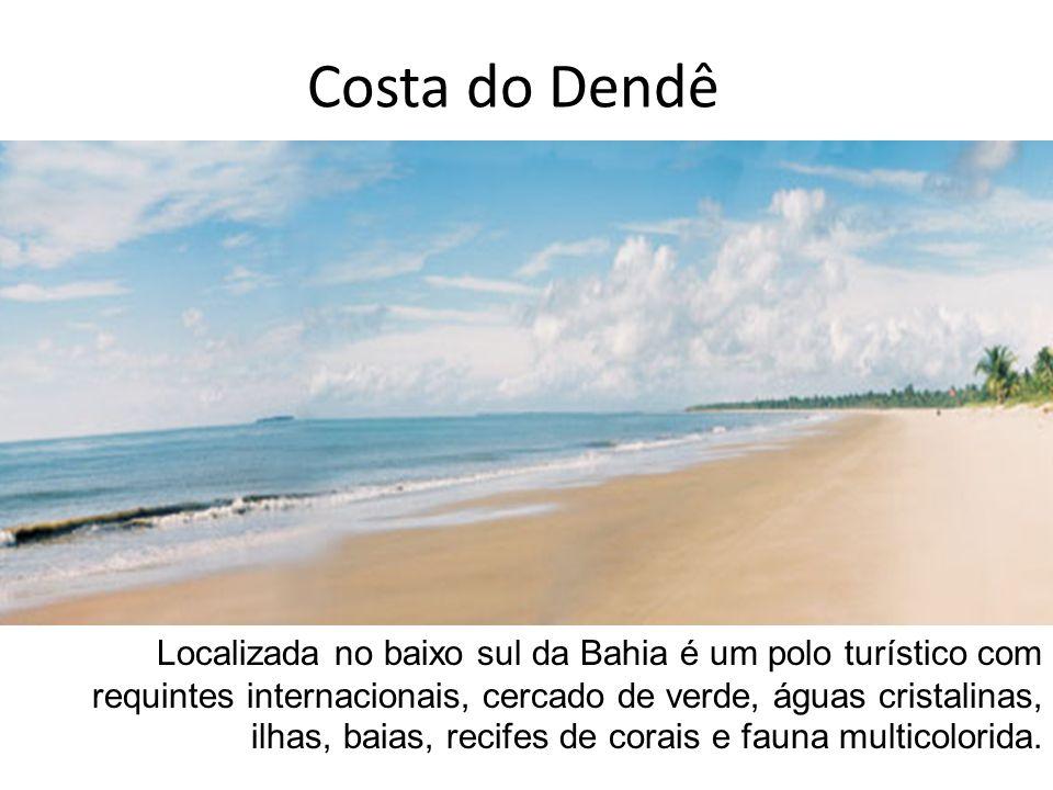 Localizada no baixo sul da Bahia é um polo turístico com requintes internacionais, cercado de verde, águas cristalinas, ilhas, baias, recifes de corai