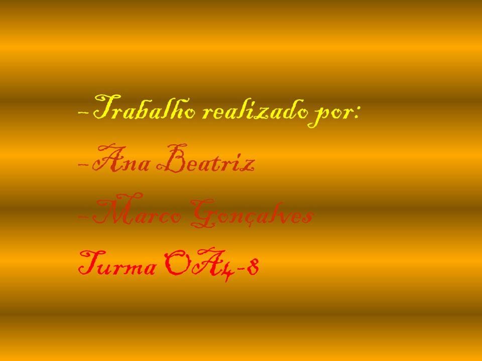 –Trabalho realizado por: –Ana Beatriz –Marco Gonçalves Turma OA4-8