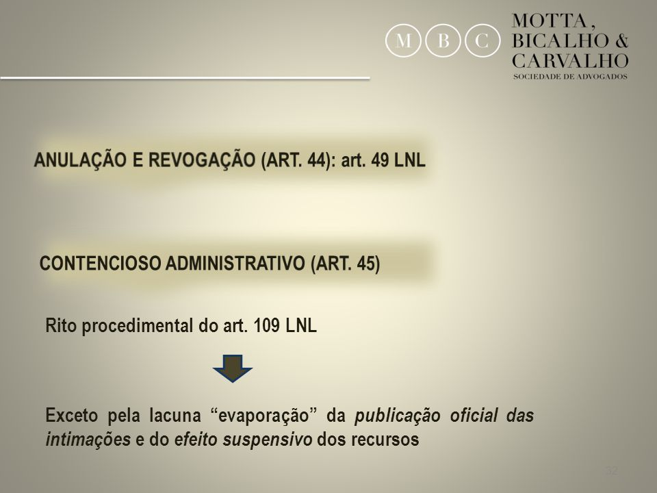 32 Rito procedimental do art.