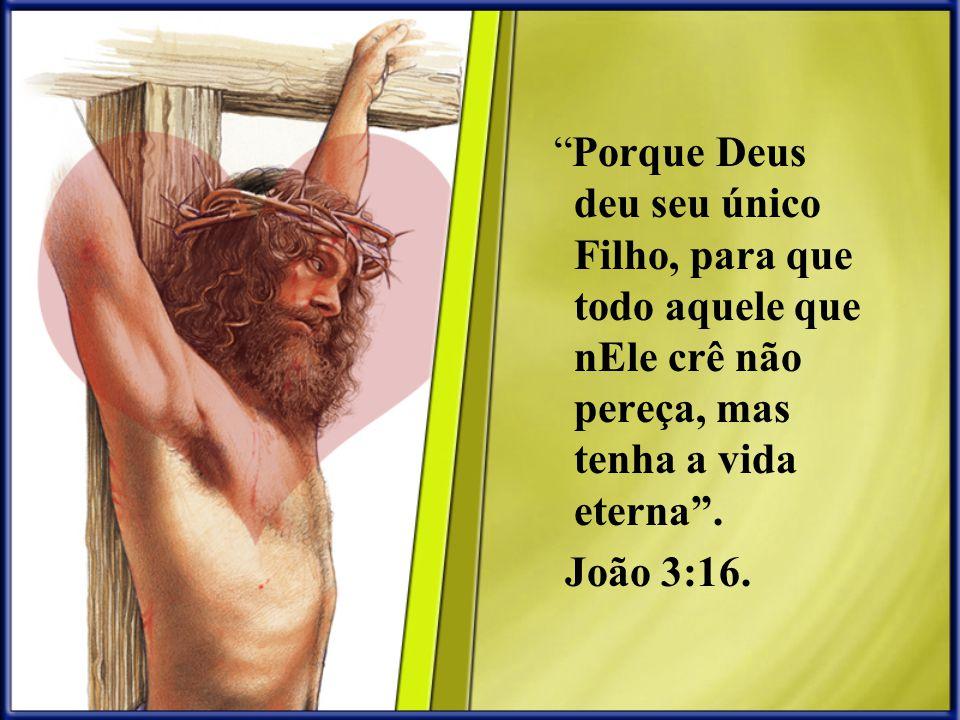 Porque Deus deu seu único Filho, para que todo aquele que nEle crê não pereça, mas tenha a vida eterna. João 3:16.