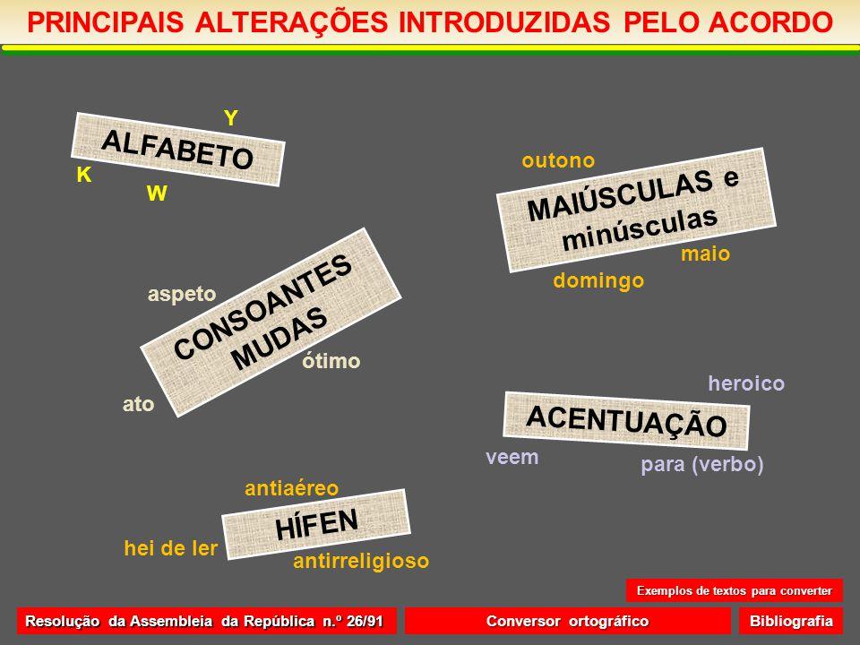 PRINCIPAIS ALTERAÇÕES INTRODUZIDAS PELO ACORDO HÍFEN 1.