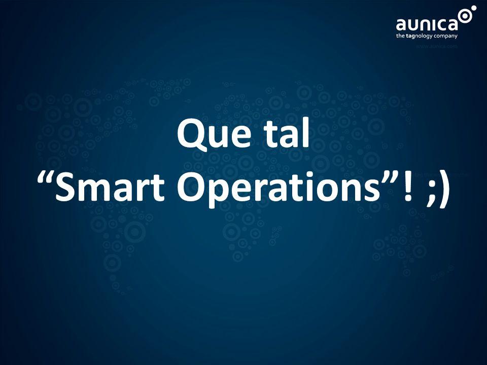Que tal Smart Operations! ;)