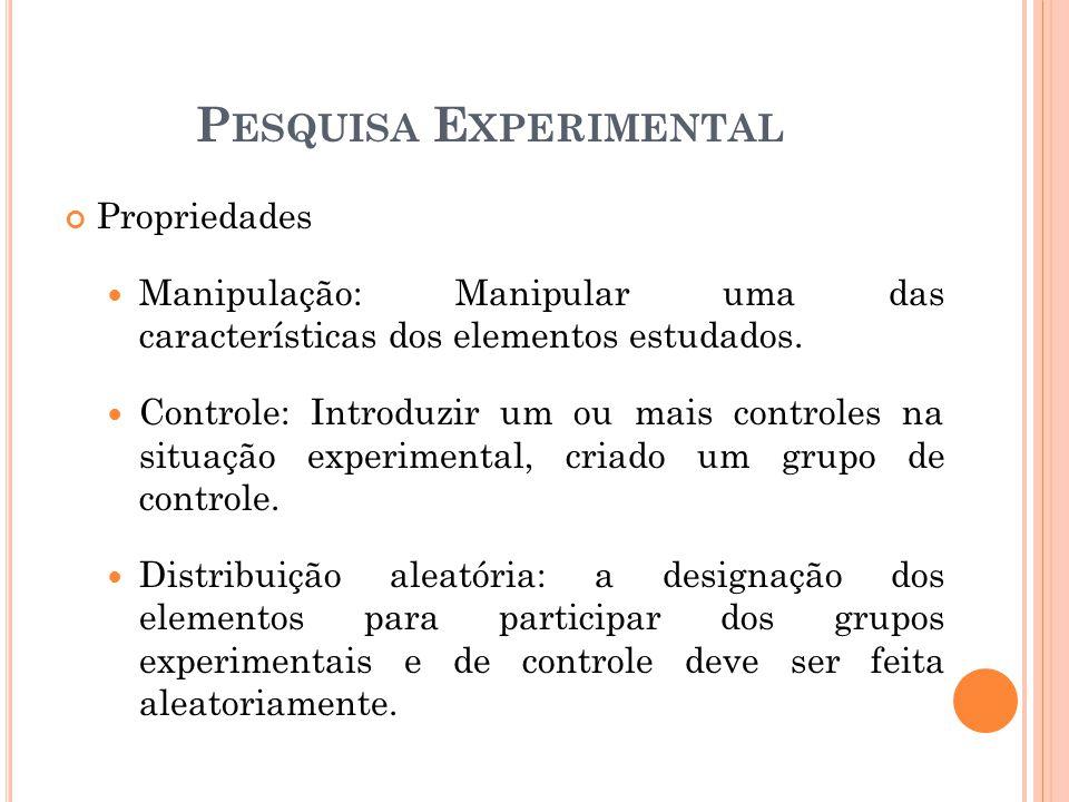 Propriedades Manipulação: Manipular uma das características dos elementos estudados.