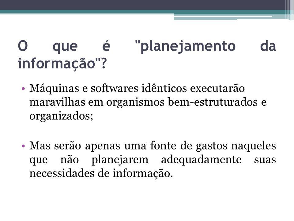 O que é planejamento da informação .