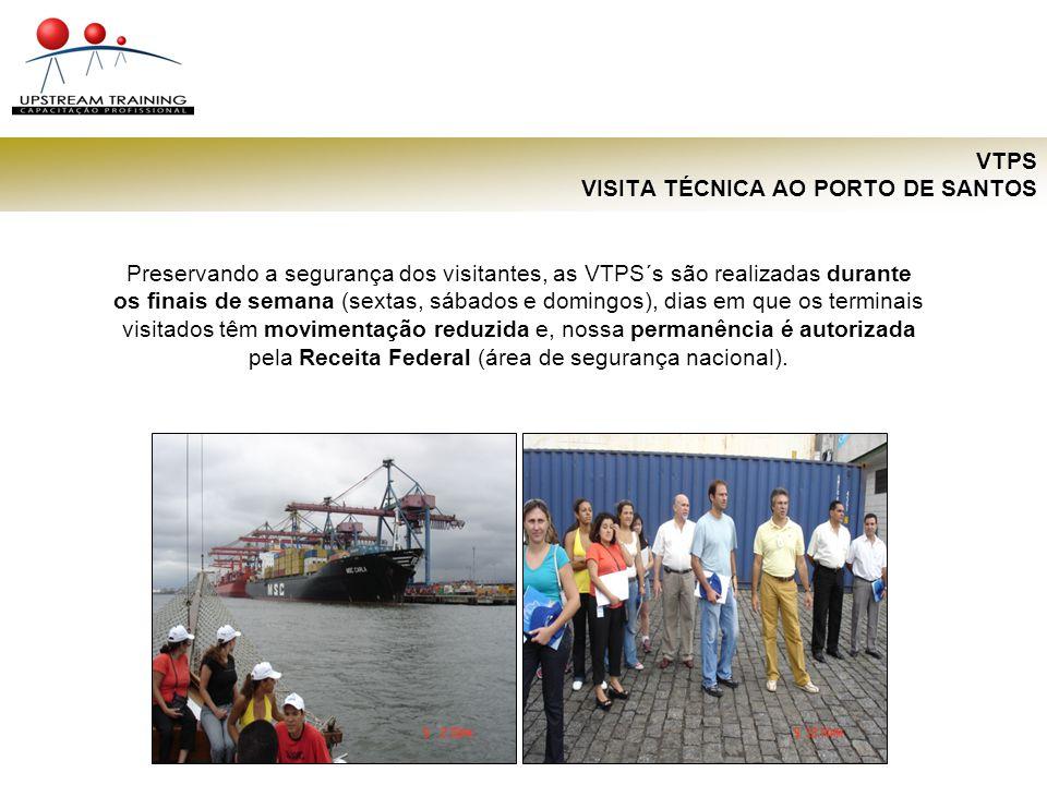 VTPS VISITA TÉCNICA AO PORTO DE SANTOS O conteúdo programático de uma VTPS é personalizado para cada grupo de visitantes, conforme sua necessidade de novos conhecimentos e disponibilidade de tempo de permanência.