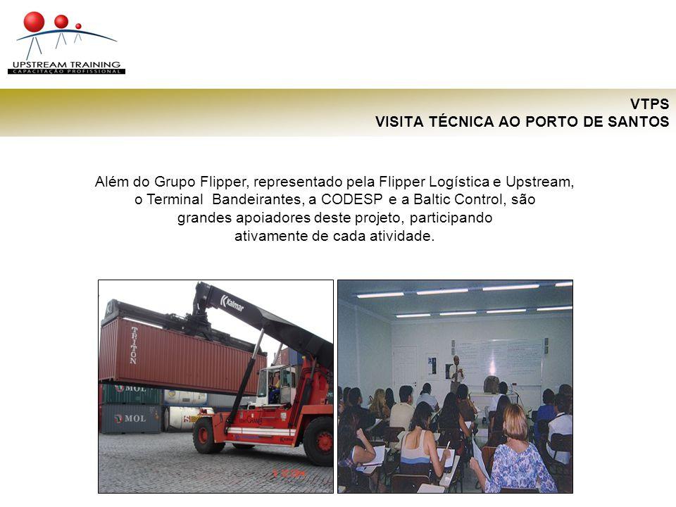 VTPS VISITA TÉCNICA AO PORTO DE SANTOS Além do Grupo Flipper, representado pela Flipper Logística e Upstream, o Terminal Bandeirantes, a CODESP e a Ba