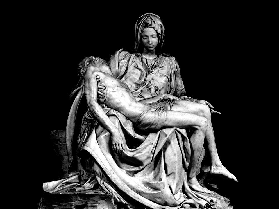 A Pietá foi esculpida entre o ano 1498 e 1499 quando Michelangelo tinha vinte e quatro anos. Suas dimensões são de 174 por 194 cm. Michelangelo se enc