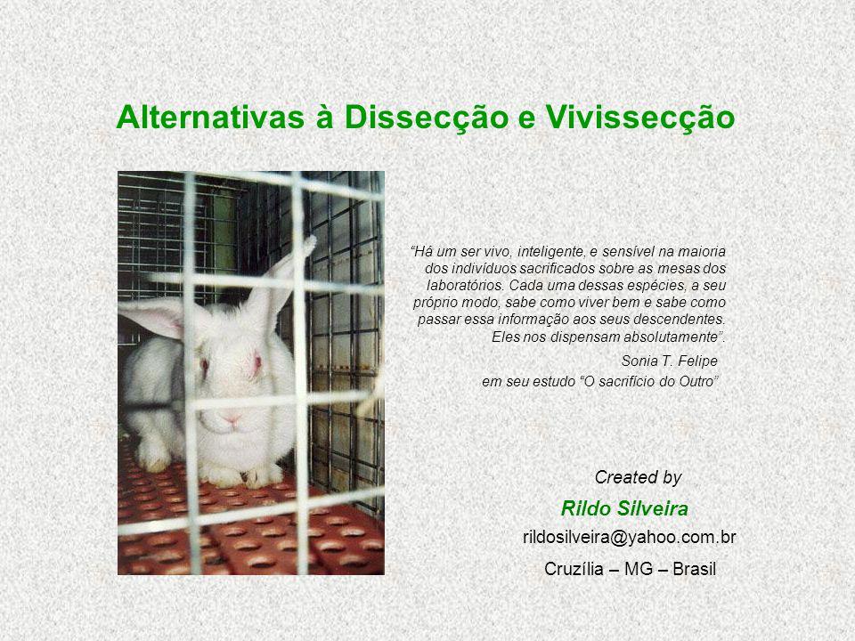 Alternativas à Dissecção e Vivissecção Sonia T.