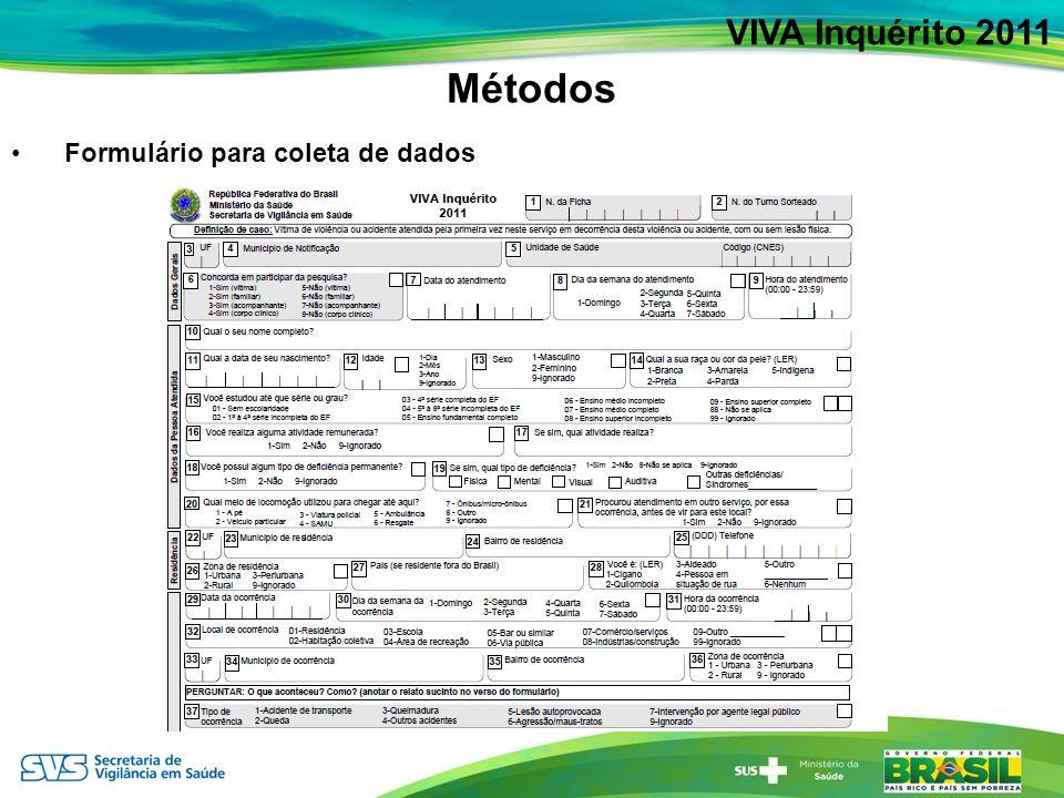 Distribuição de atendimentos por acidentes de transporte em serviços sentinelas de urgência e emergência, segundo meio de locomoção, em 24 capitais e Distrito Federal – Brasil, 2011 VIVA Inquérito 2011