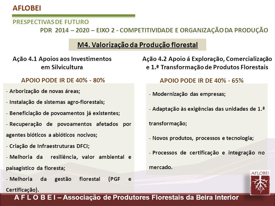 - Modernização das empresas; - Adaptação às exigências das unidades de 1.ª transformação; - Novos produtos, processos e tecnologia; - Processos de cer