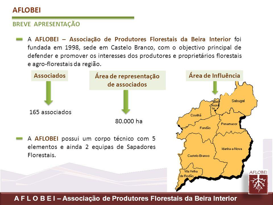AFLOBEI BREVE APRESENTAÇÃO A AFLOBEI – Associação de Produtores Florestais da Beira Interior foi fundada em 1998, sede em Castelo Branco, com o object