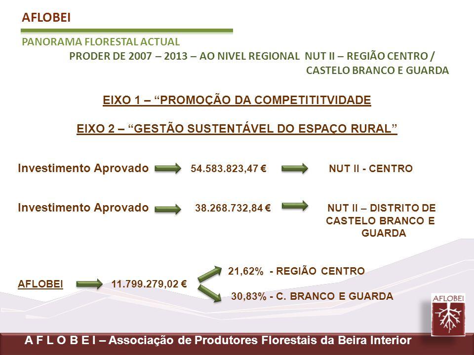 AFLOBEI PANORAMA FLORESTAL ACTUAL PRODER DE 2007 – 2013 – AO NIVEL REGIONAL NUT II – REGIÃO CENTRO / CASTELO BRANCO E GUARDA A F L O B E I – Associaçã