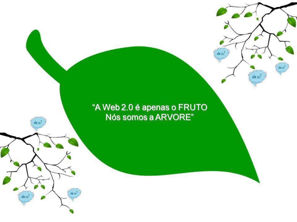 A Web 2.0 é apenas o FRUTO Nós somos a ARVORE
