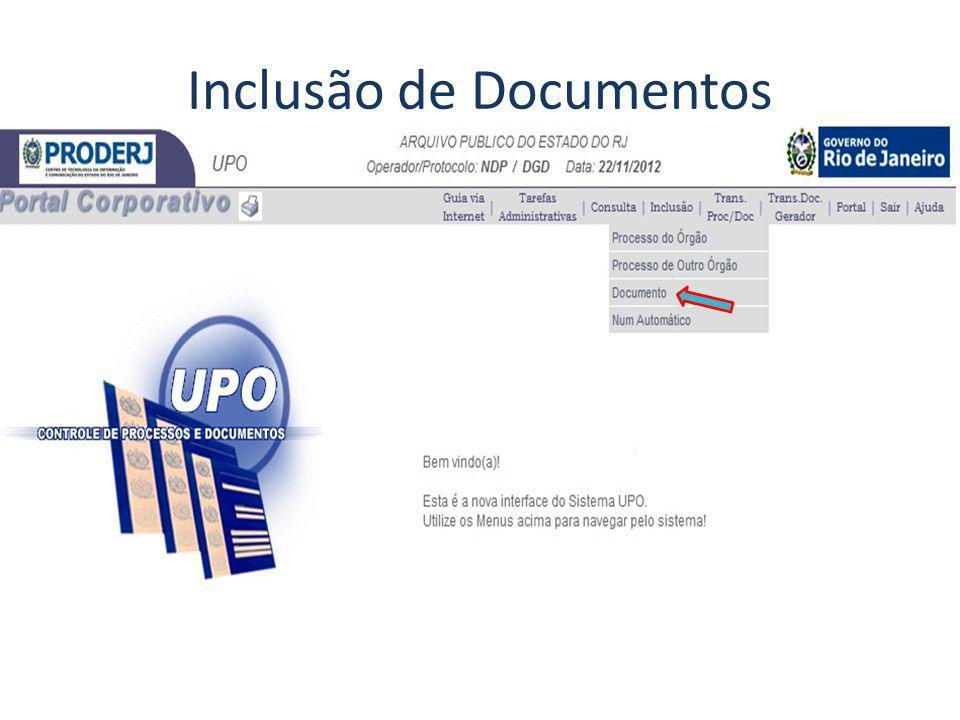 Inclusão de Documentos