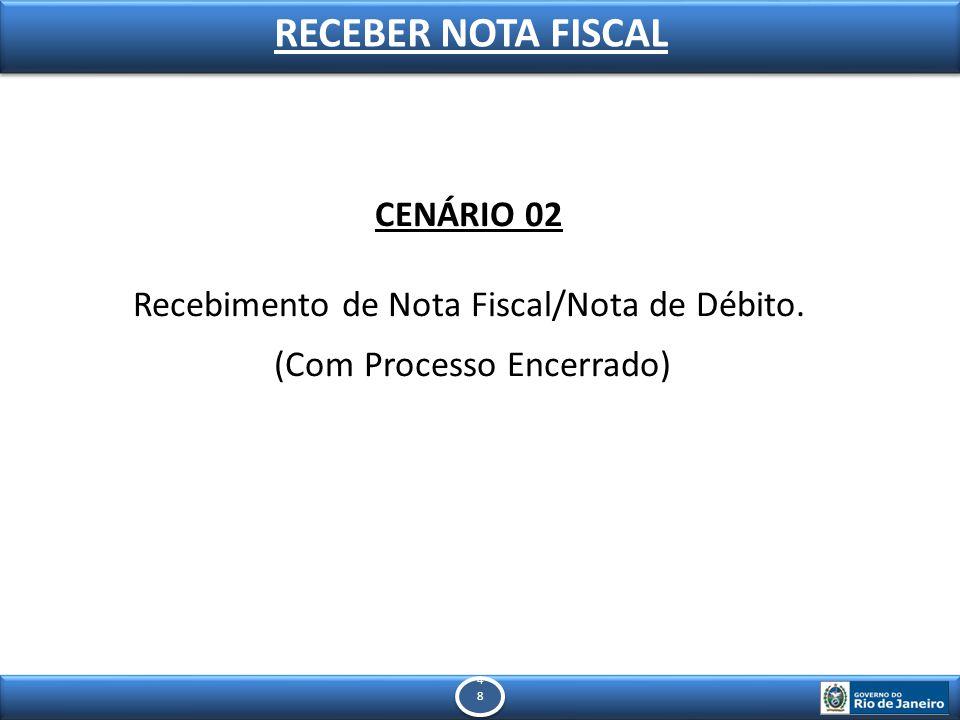 4848 4848 RECEBER NOTA FISCAL CENÁRIO 02 Recebimento de Nota Fiscal/Nota de Débito.
