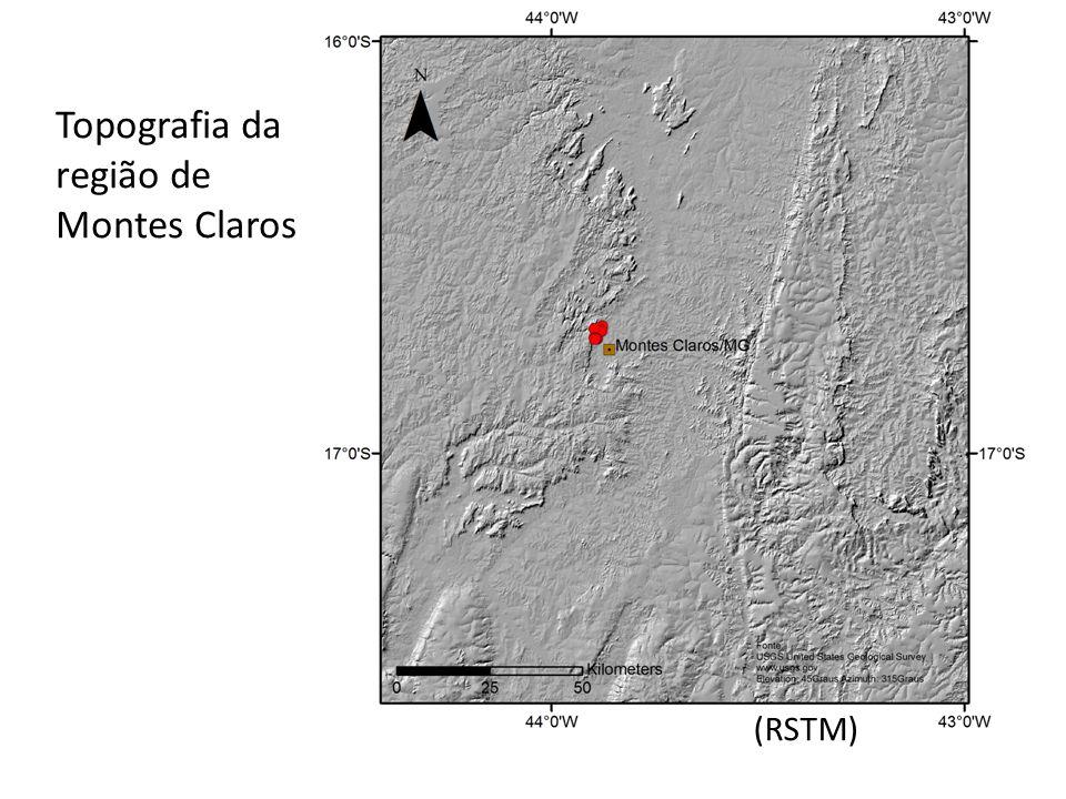 Topografia da região de Montes Claros (RSTM)