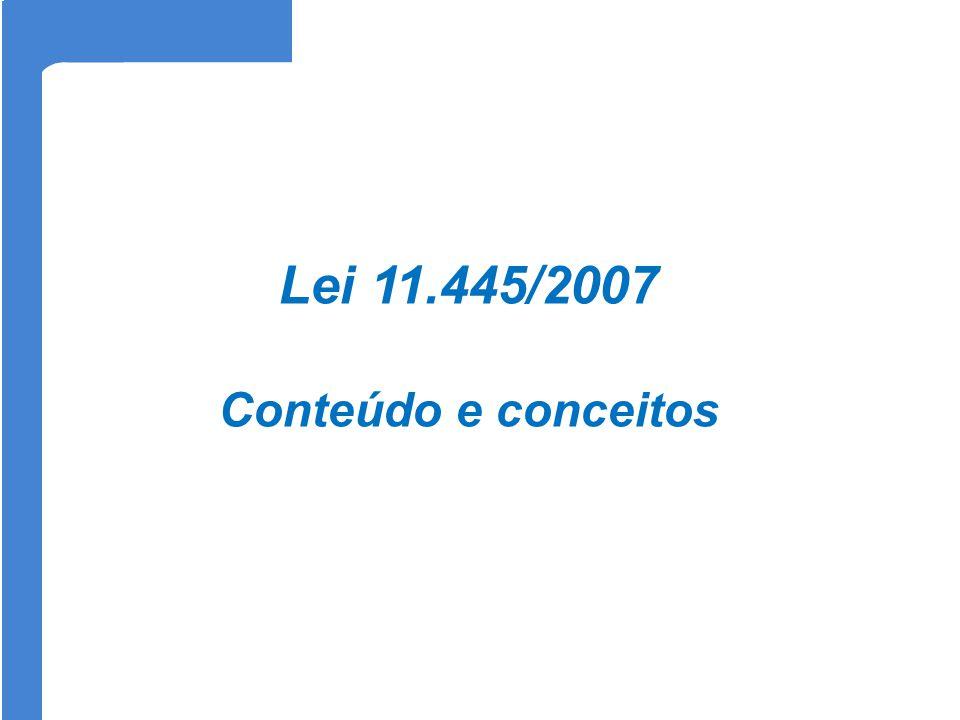 Lei 11.445/2007 Conteúdo e conceitos