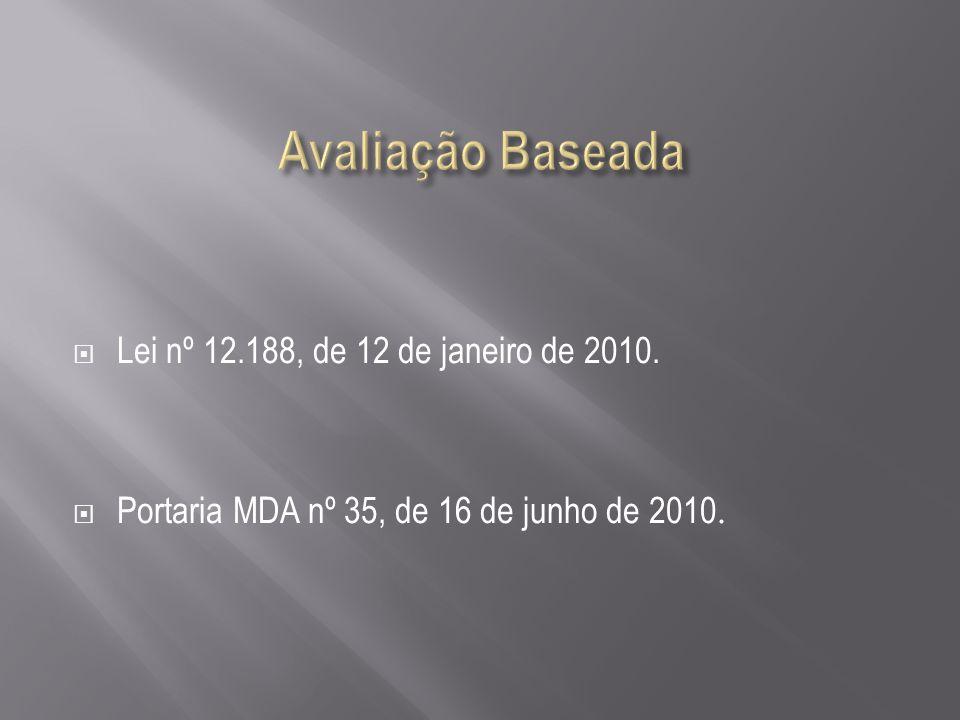 Lei nº 12.188, de 12 de janeiro de 2010. Portaria MDA nº 35, de 16 de junho de 2010.