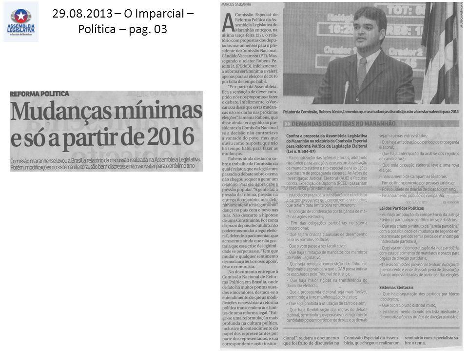 29.08.2013 – O Imparcial – Política – pag. 03