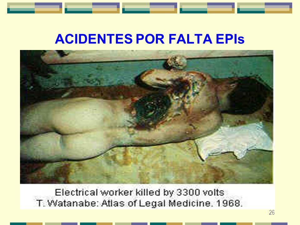 26 ACIDENTES POR FALTA EPIs