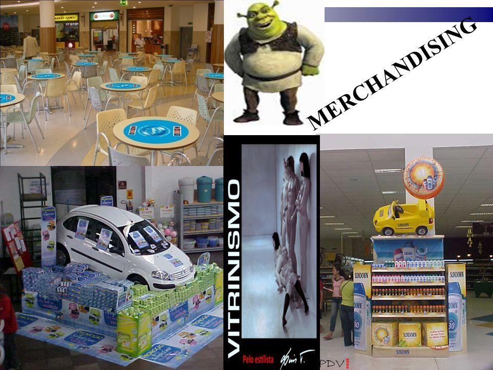 D) MERCHANDISING X PROPAGANDA - Merchandising é um recall da propaganda; - Reforça uma campanha na mídia; - Mantém o consumidor atento; - Propaganda sem ação no PDV = resultado duvidoso; - Campanha bem feita x PDV sem expressão e concorrente com melhor merchandising = RISCO; - 85% da decisão do consumidor é no PDV ( POPAI ); O MERCHANDISING É O ÚLTIMO ESFORÇO DE MARKETING QUE AS EMPRESAS UTILIZAM PARA O CONSUMIDOR LEVAR SEU PRODUTO