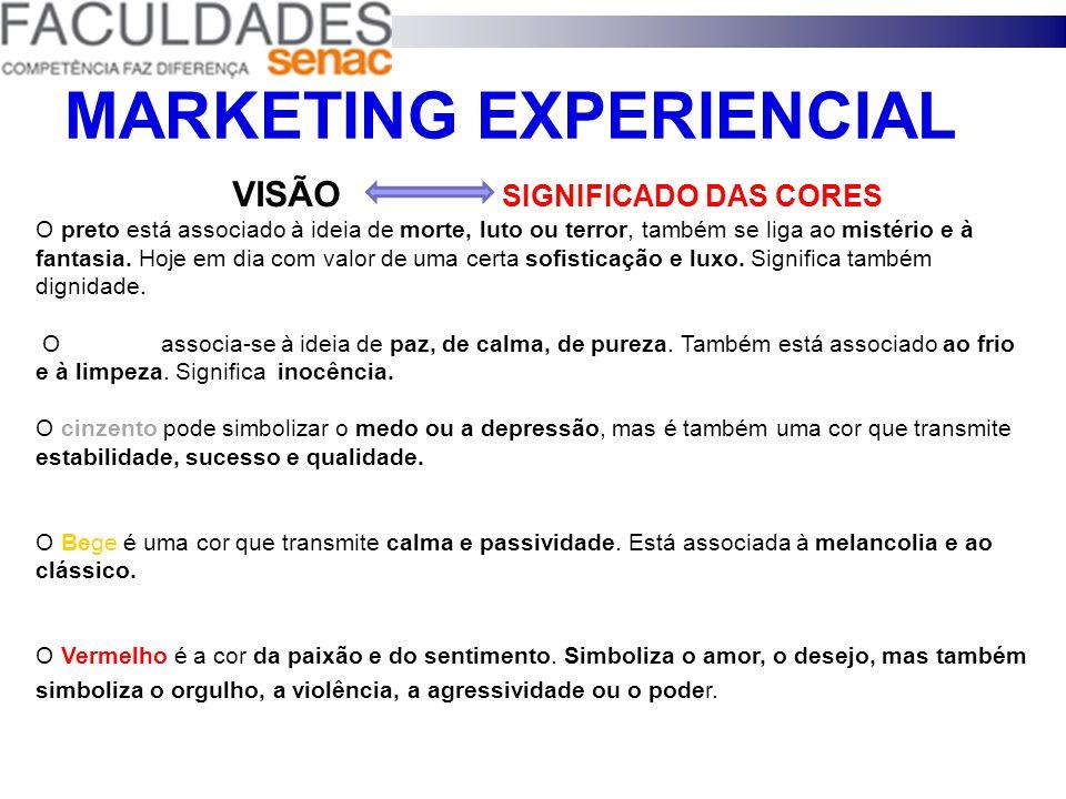 MARKETING EXPERIENCIAL AS CORES SÃO FONTES DE - INFORMAÇÃO - SENSAÇÃO - LEMBRANÇAS