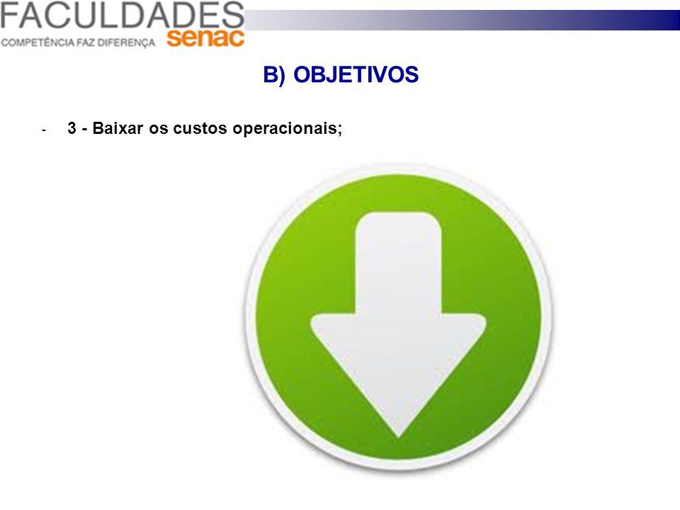 B) OBJETIVOS 2 - Vender mais por cliente;