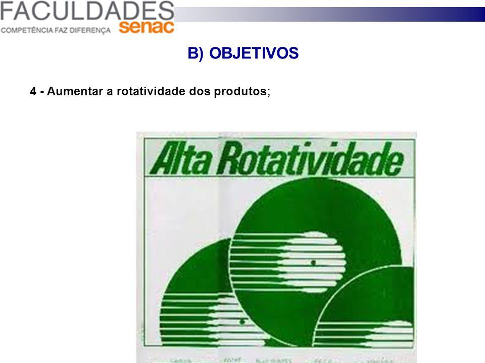 B) OBJETIVOS - 3 - Baixar os custos operacionais;