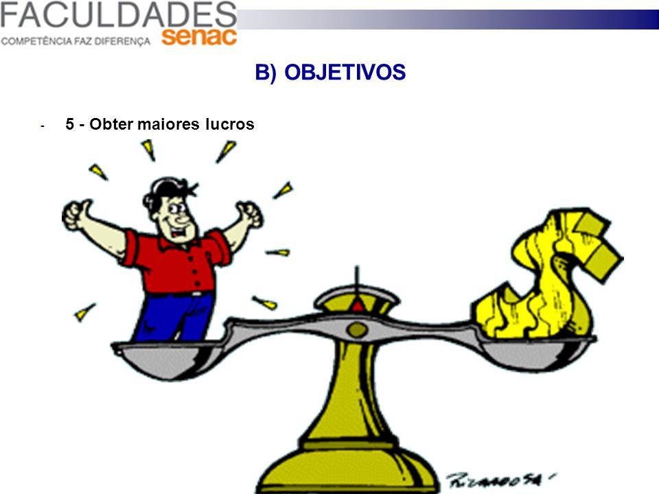 B) OBJETIVOS 4 - Aumentar a rotatividade dos produtos;