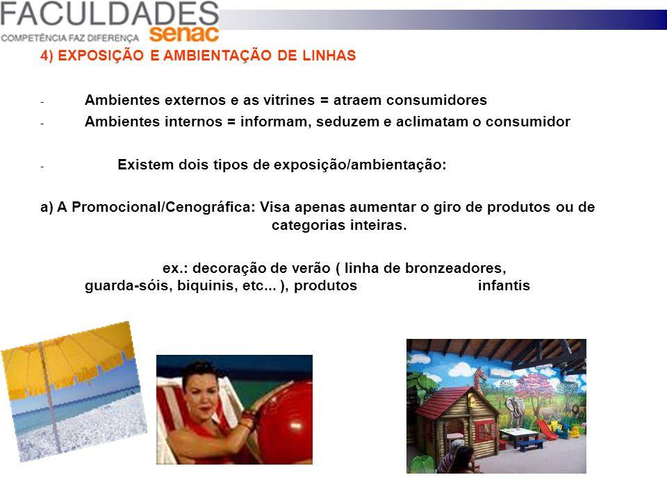 VISIBILIDADE CRIA VENDAS Vantagens de uma exposição bem feita: a) Para o consumidor: - Facilita a compra; - Economiza tempo; - Lembra necessidades; b)