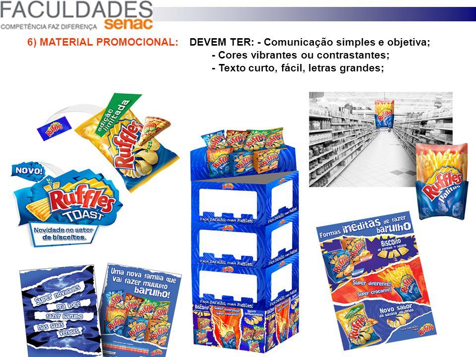 5) TABLÓIDES E MALAS DIRETAS São considerados a melhor mídia do PDV: Manter sincronia – Produto ofertado, desejo do consumidor e a região. Bairros pop