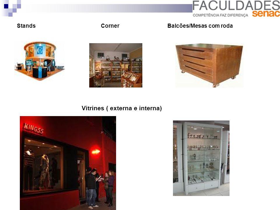Displays Ponta de Gondola Prateleira encostada na parede
