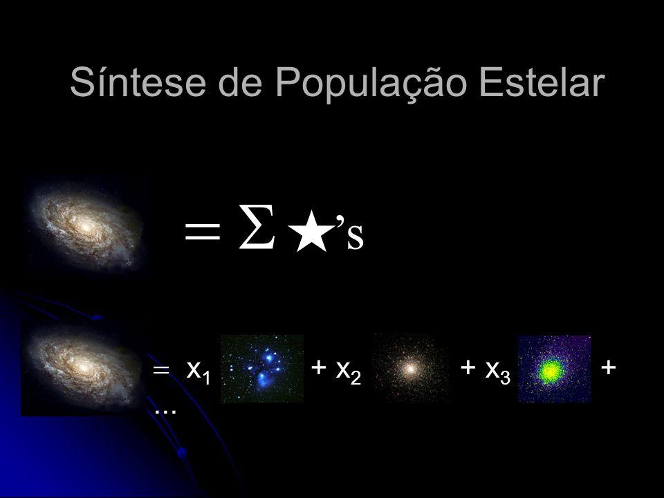 Síntese de População Estelar x 1 + x 2 + x 3 +... s