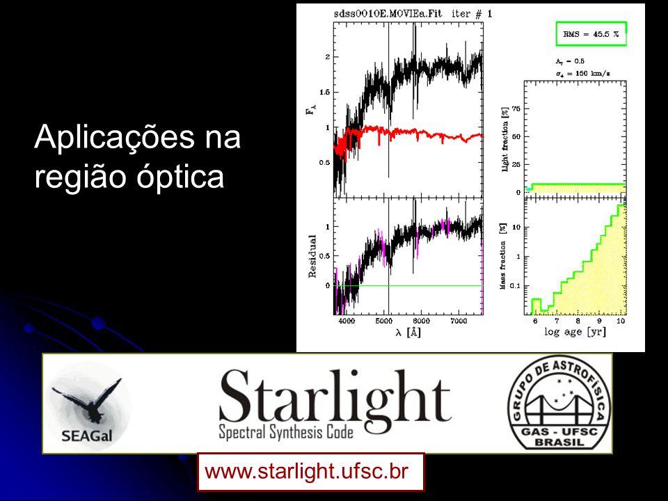 www.starlight.ufsc.br Aplicações na região óptica
