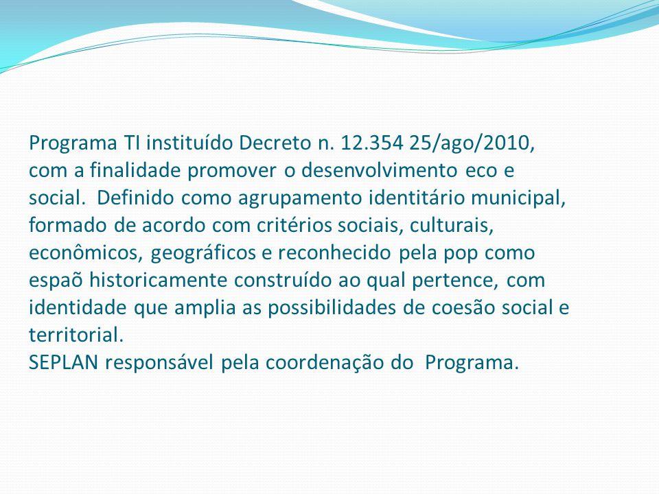 Programa TI instituído Decreto n.
