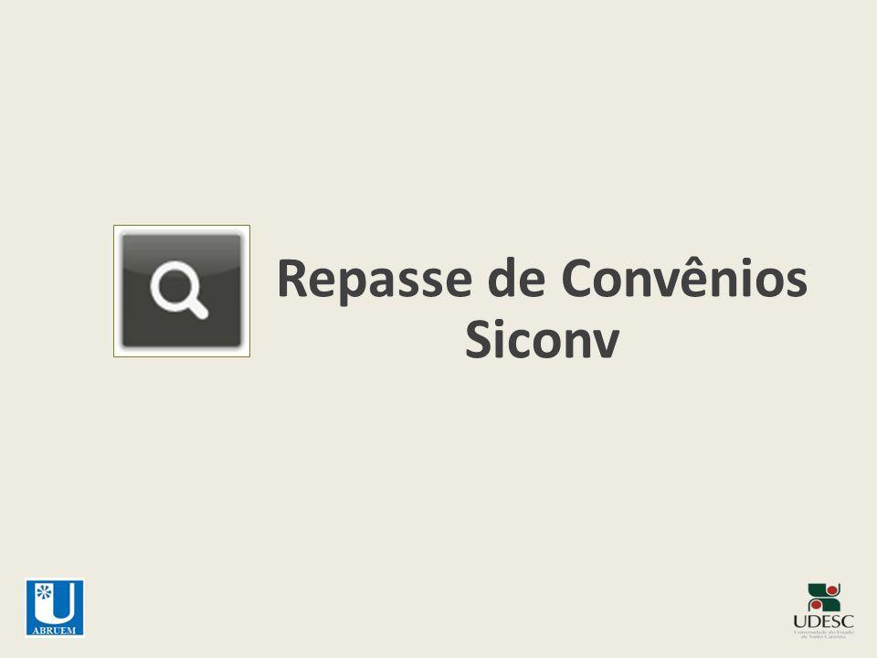 Repasse de Convênios Siconv