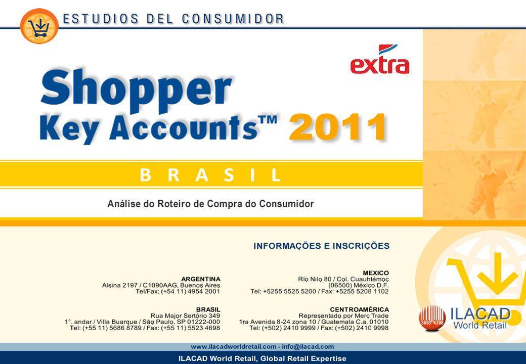 2 2 2 Key Account Emblema Extra Los datos provistos en este informe provienen del estudio Shopper Brasil 2011 y corresponden a la base de amas de casa que son clientes habituales de la cadena.