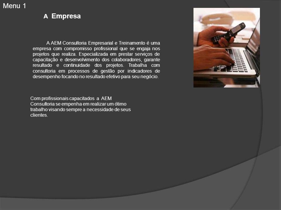 A Empresa A AEM Consultoria Empresarial e Treinamento é uma empresa com compromisso profissional que se engaja nos projetos que realiza. Especializada
