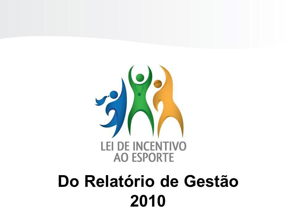 LEI DE INCENTIVO AO ESPORTE Do Relatório de Gestão 2010