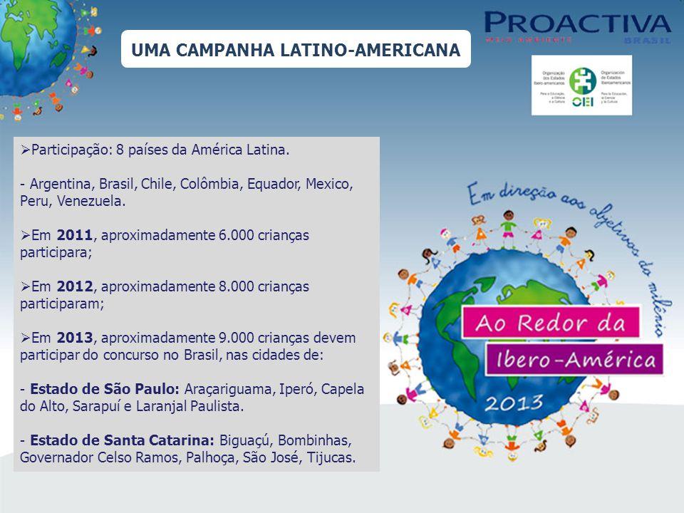 UMA CAMPANHA LATINO-AMERICANA Participação: 8 países da América Latina.